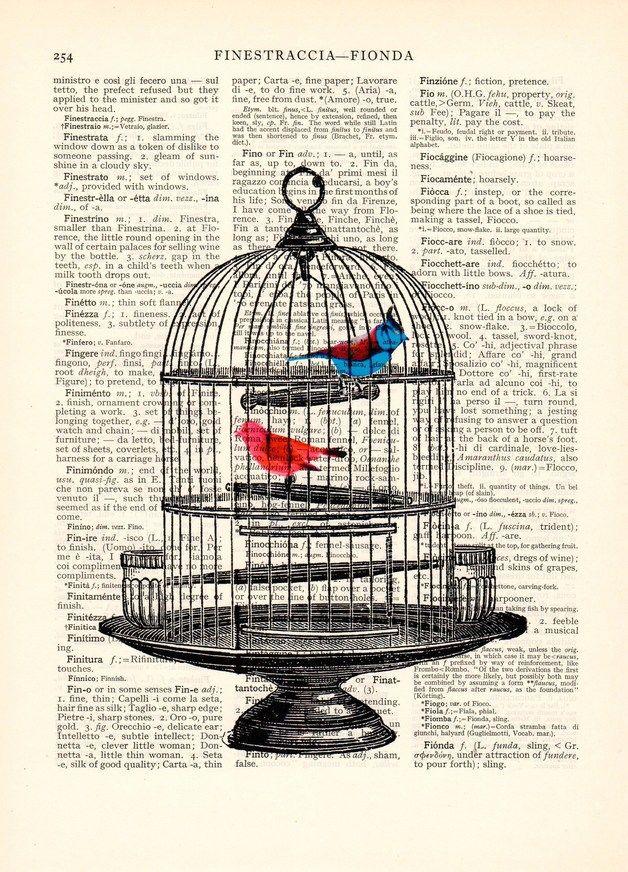 art print Dizionario pagina libro dell'annata. Offrite una stampa meraviglioso su una pagina unica di carta dizionario vintage. Le pagine del libro che uso sono dal 1925. L'immagine colorata...