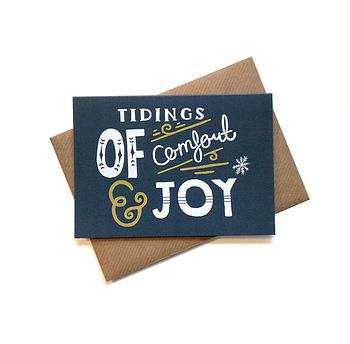 'Tidings Of Comfort And Joy' Christmas Card