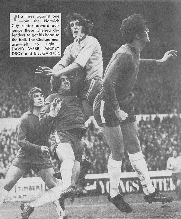 9th December 1972. Norwich City centre forward David Cross ...
