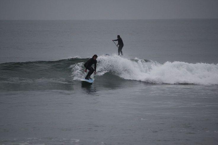Probando new longboard 9,1 Pacifico Surf - Salerno