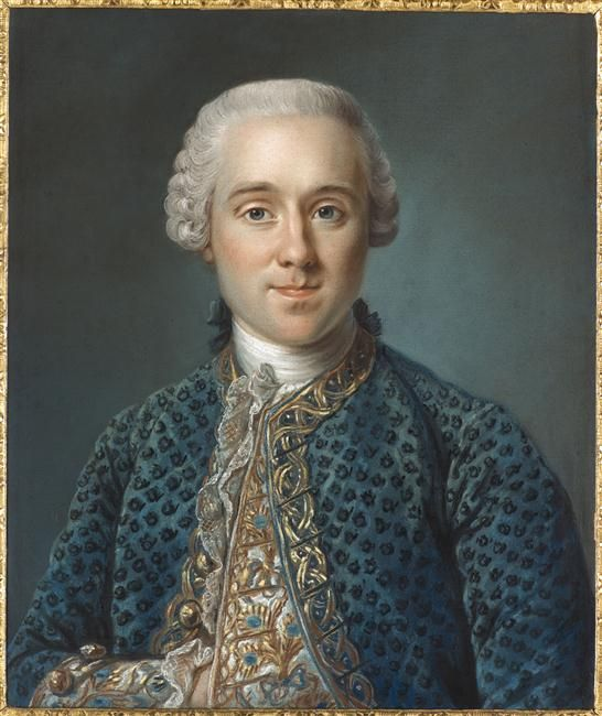 Ange-Laurent Lalive de Jully (1725-1779), 1765 by Joseph Ducreux (1735-1802) (Musee Antoine Lecuyer)