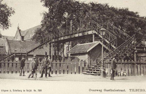 De voetgangersbrug van de gasthuisring gasthuisstraat begin 1945 tilburg industry oud - Lay outs oud huis ...