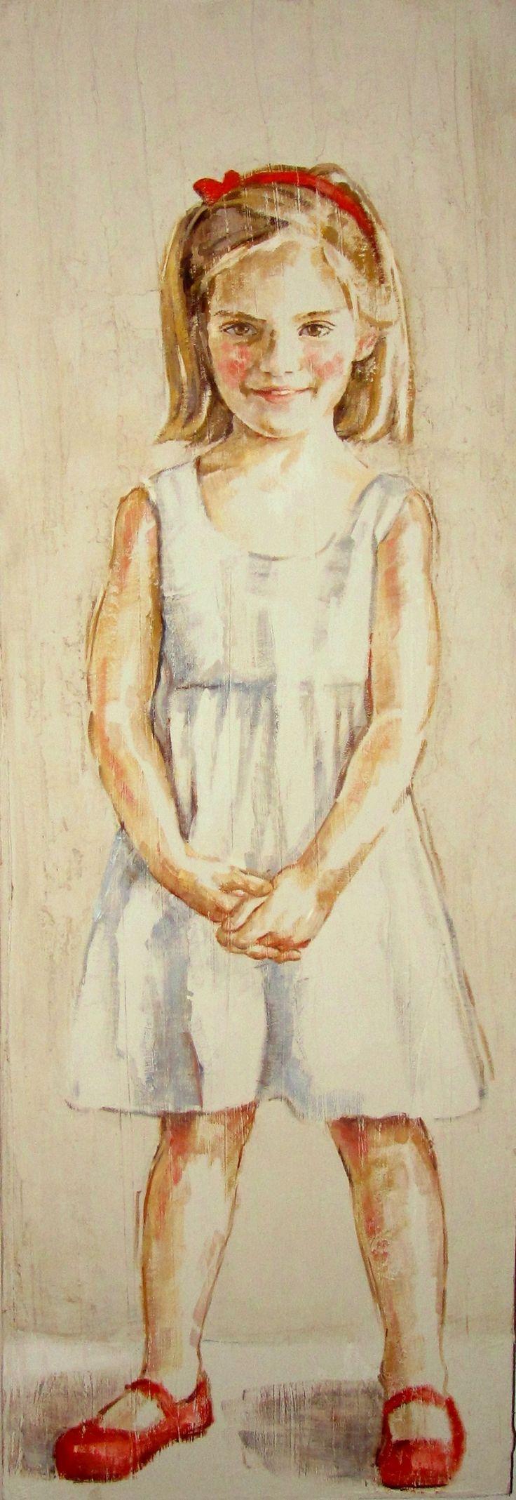 niña retrato 120 x 45-M. Isabel Barros Alcalde