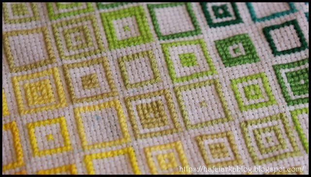 Hafciarka: Kolorowe kwadraty - Colored squares - cz.III