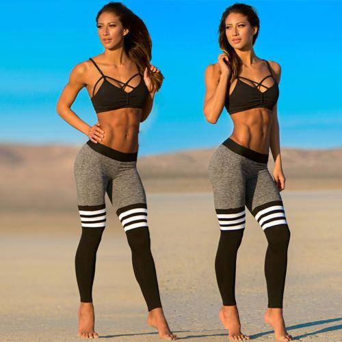 Sporthose Jogga Pants Fitnesshose Sportleggins Fitness Leggins Sexy Strech Damen