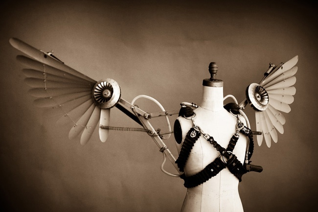 Pneumatic Steampunk Wings                                                       …