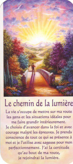 le chemin de la lumière + texte