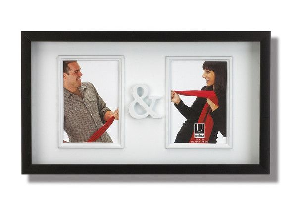"""YOU & ME FRAME  $29.99 You & Me is a wall frame with two openings for 5x7"""" photos with """"&"""" in the middle.  Perfect for engagements, weddings, or a couple's gift."""