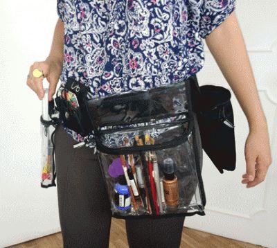 El cinturón Linear Standby Belts con diferentes bolsas, incluyendo la bolsa Porta Radio, que es este caso lleva un celular. El cinturón viene en 3 tamaños y las bolsas se adquieren por separado, así creas el cinturón justo como lo necesitas.