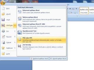 Odborná počitačová pomoc: PDF soubory tvorba, sloučení