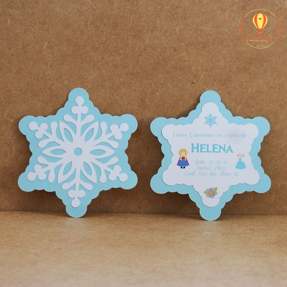 Convite Floco de Neve - Frozen