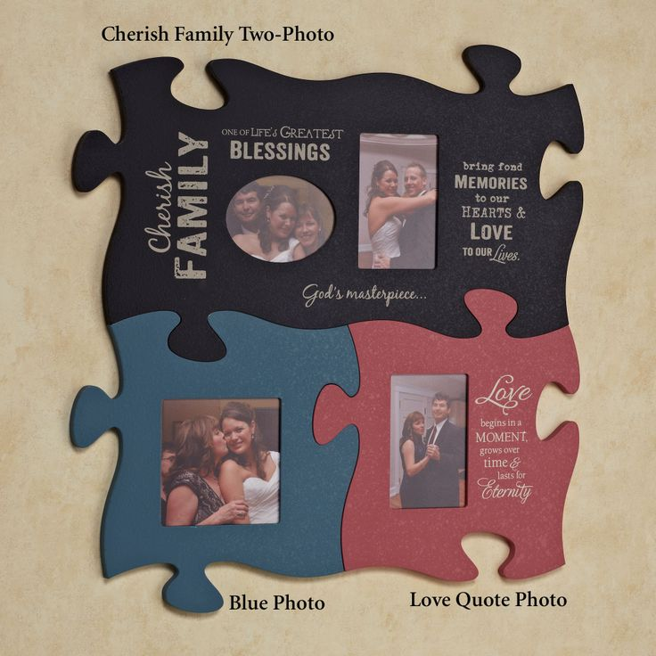 puzzle of life picture frames | Home Cherish Family Puzzle Piece Wall Art Black