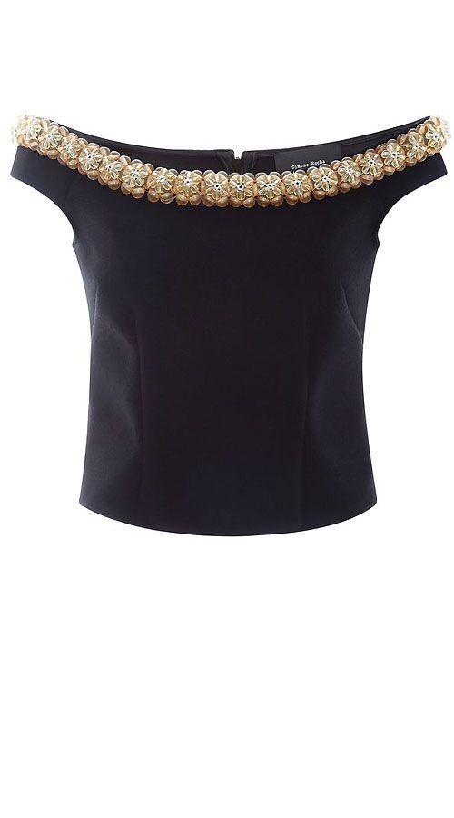 Off shoulder blouse with stonework detailing... Get it done by www.fabdarzi.com
