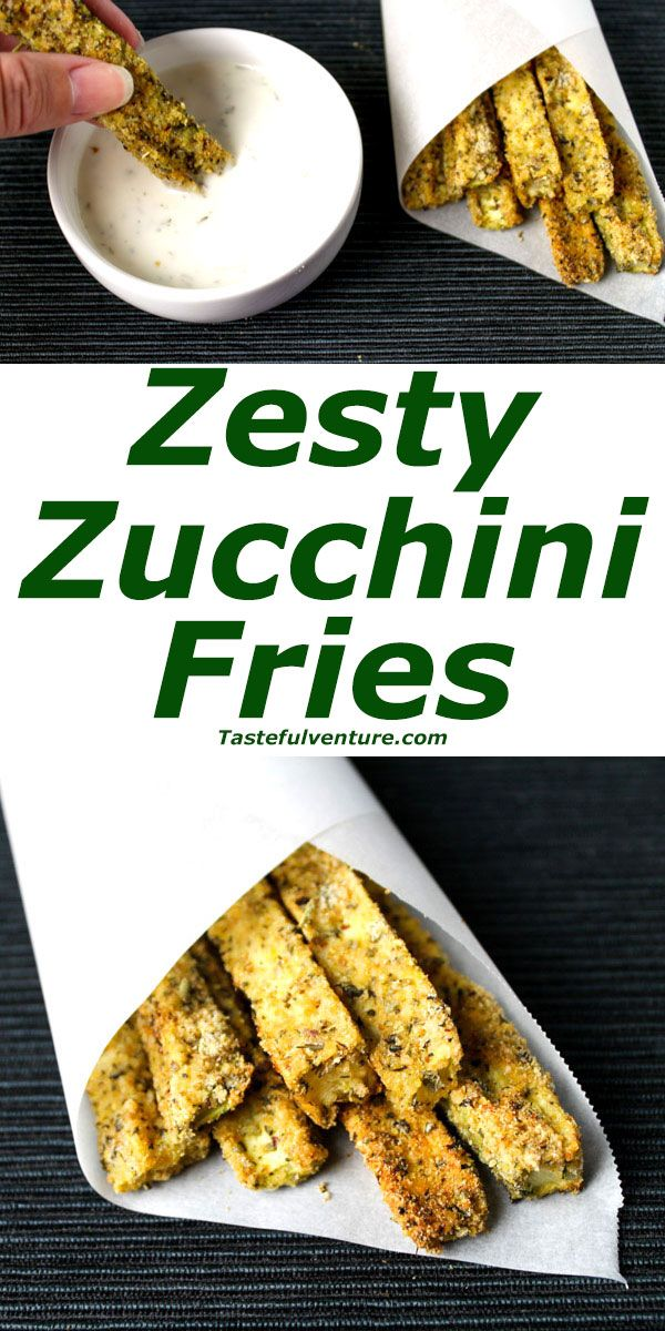 Zesty Zucchini Fries that are Low Carb, Gluten Free, and oh so Yummy!   http://Tastefulventure.com