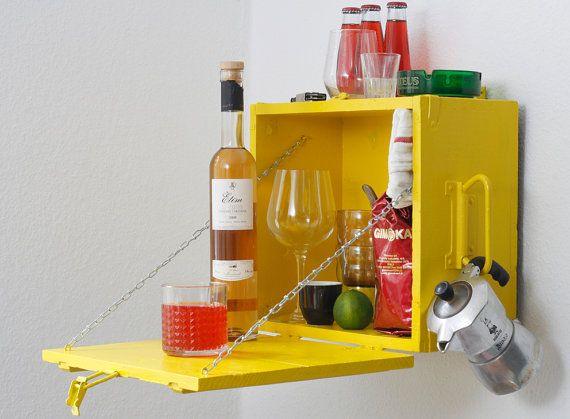 O SOLE MIO  caja de munición amarillo pintado  por mareEmonti, €35.00