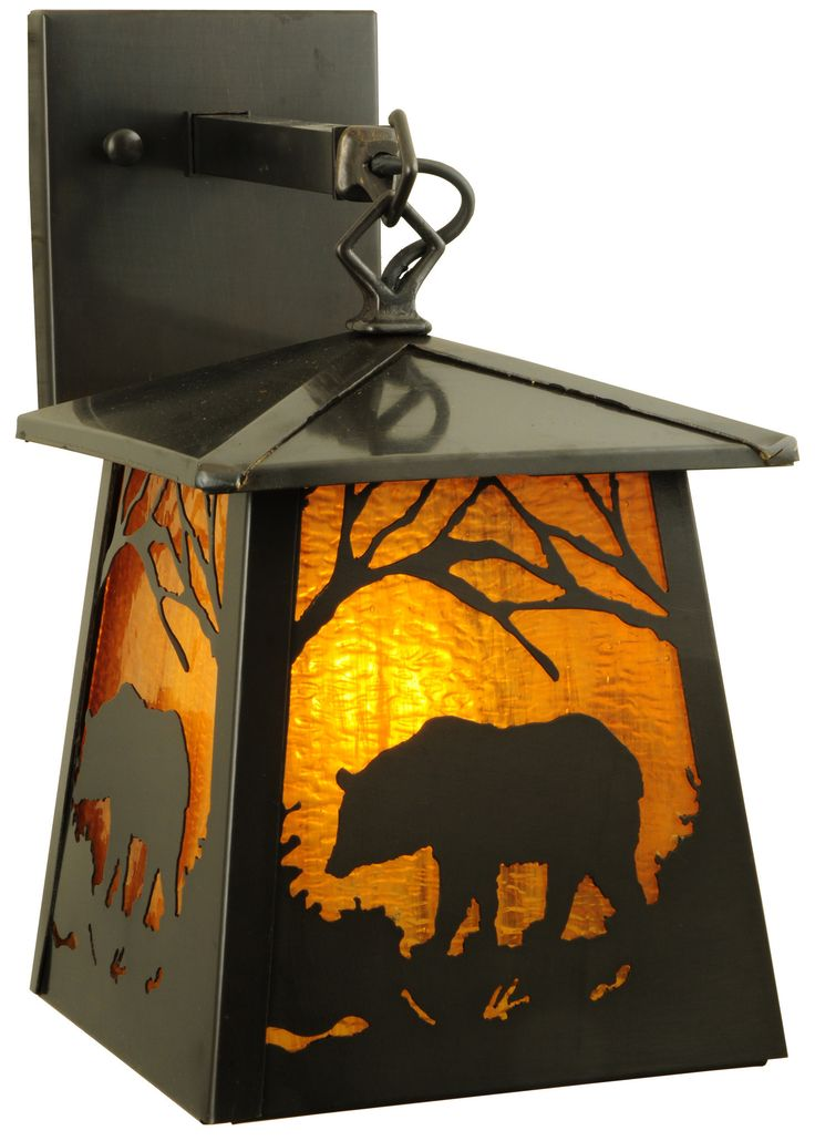 7.25 Inch W Stillwater Grizzly Bear Wall Sconce. 7.25 Inch W Stillwater Grizzly Bear Wall Sconce Theme:  MISSION LODGE ARTS & CRAFTS ANIMALS Product Family:  Stillwater Grizzly Bear Product Type:  WALL SCONCES Product Application:  WALL SCONCE -- ONE LIGHT Color:  HA CRAFTSMAN Bulb Type: MED Bulb Quantity:  1 Bulb Wattage:  60 Product Dimensions:  12H x 7.25W x 11.5DPackage Dimensions:  NABoxed Weight:  5 lbsDim Weight:  30 lbsOversized Shipping Reference:  NAIMPORTANT NOTE:  Every Meyda...
