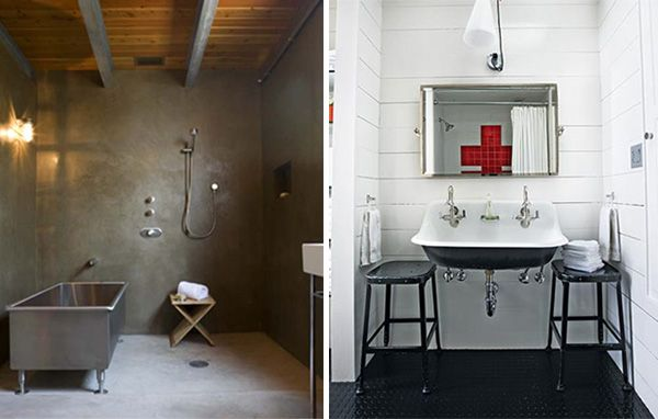 Industrial bathroom kids bath pinterest industrial for Industrial bathroom ideas