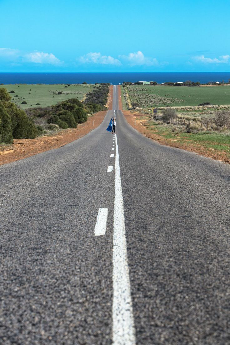 The long road to Kalbarri, Western Australia. Photography by Luke Shadbolt for Gary Pepper