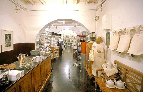 Looking for a souvenir of Rome you can use in the kitchen? Look no further than c.u.c.i.n.a., a few minutes walk from us near the Spanish Steps at Via Mario de Fiori, 65. Pasta makers, ravioli molds, panettone molds -- you name it, they will have it, and of the highest quality. Website is http://www.cucinastore.com.
