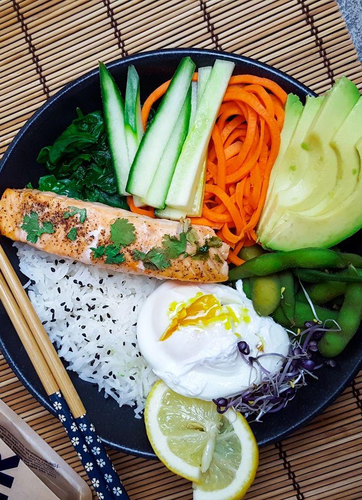 Sushi Buddha Bowl - Rezept (Sushi selber machen, Reis, Japanisch, Onigiri, Rolls, Nigiri, Lachs, Thunfisch, Frischkäse, Noriblätter, Vegetarisch, Veggie, Vegan, Sojasoße, Wasabi, Avocado, Schnell, Einfach, Gesund, Kochhaus)