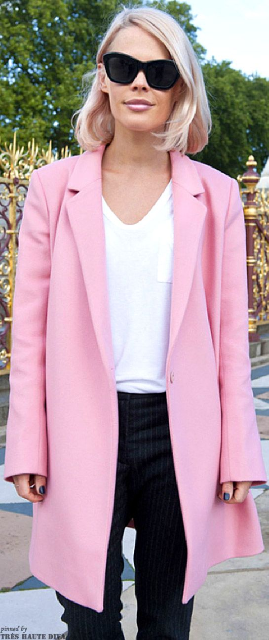 97 best Pink coat outfits images on Pinterest   Pink coats, Fall ...