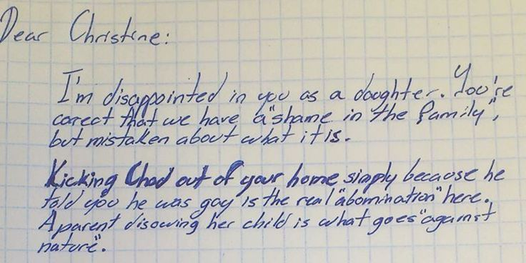 LOOK: Grandfather Writes AMAZING Letter To Daughter After She Kicks Out Gay Grandson