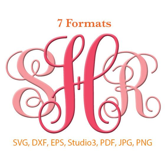 Download Vine Interlocking Monogram Font SVG Studio 3 / dfx / eps ...