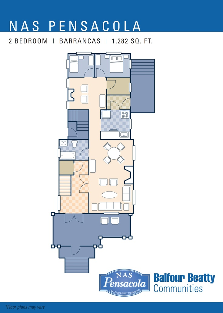 NAS Pensacola – Barrancas Neighborhood: 2 bedroom home