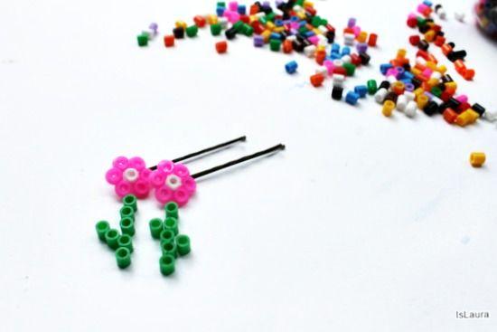 Fermacapelli a molletta con perline a fusione