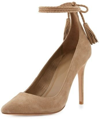 Joie Angelynn Suede Ankle-Wrap Pump on ShopStyle