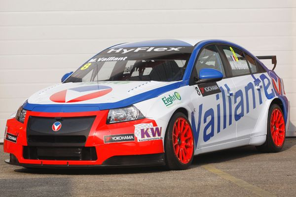 The car of French comic book racing hero 'Michel Vaillant', which will be raced at Portimão next weekend in the #WTCC