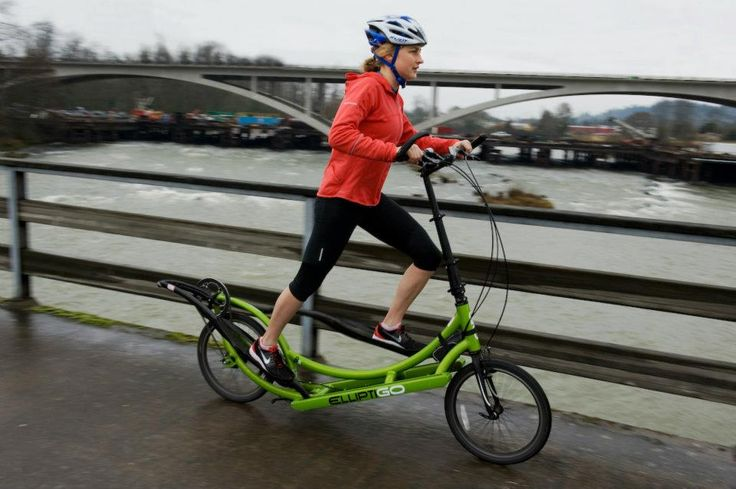 No more sore knees on the ElliptiGO! What a great way to crosstrain. - Although it's kind of nerdy looking, it actually looks kind of fun too