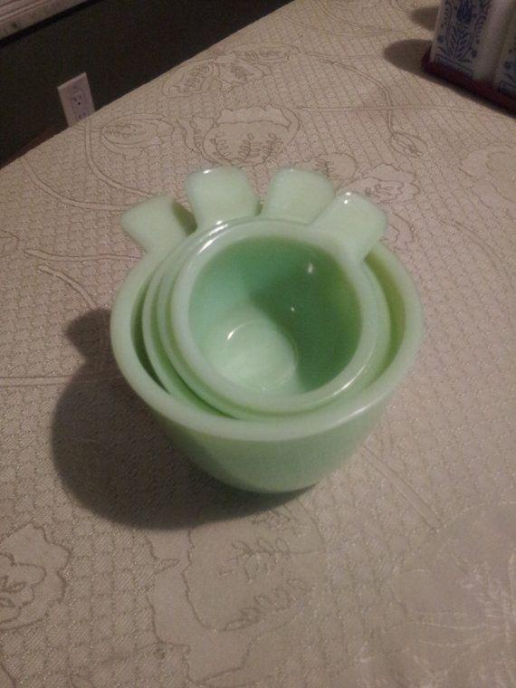 Mint Vintage Jeannette Jadeite Measuring Cup Set on Etsy, $199.99