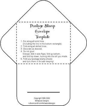 Ideas para invitaciones de boda: Moldes para hacer sobres para las invitaciones de boda