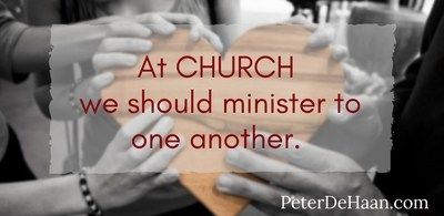 Why Do We Listen to a Sermon at Church Each Sunday?  The people in the church should minister to one another, not have paid clergy preach them to a sermon. #heart #quotes #God #bible #church https://www.peterdehaan.com/spiritually-speaking/reconsider-the-sunday-sermon/