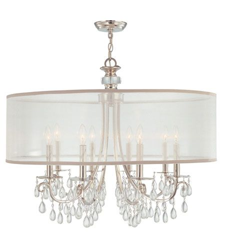 Z Gallerie Light Fixtures: Crystorama 5628-CH Hampton 8 Light 32 Inch Polished Chrome