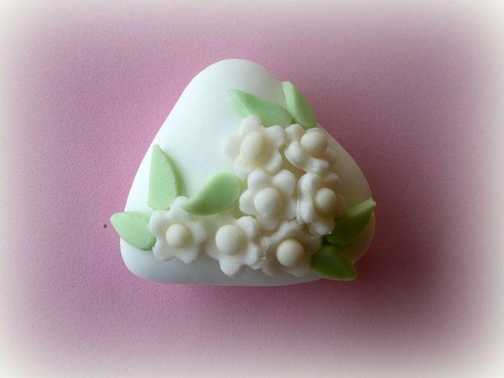 Confetto al cioccolato segnaposto per matrimonio