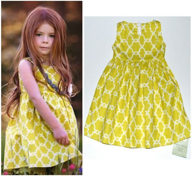 Persnickety yellow penny dress