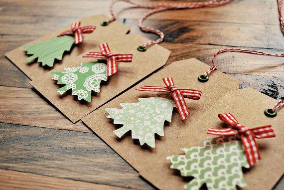 christmas tree gift tags christmas gift tags kraft gift tags by oscar & ollie