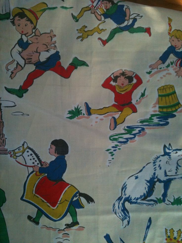 Nursery rhyme fabric. Probably one of my best-ever charity shop finds.