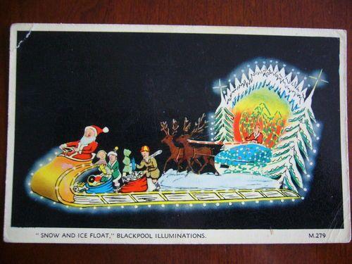 1 POSTCARDS BLACKPOOL ILLUMINATIONS BY VALENTINES SNOW & ICE FLOAT | eBay