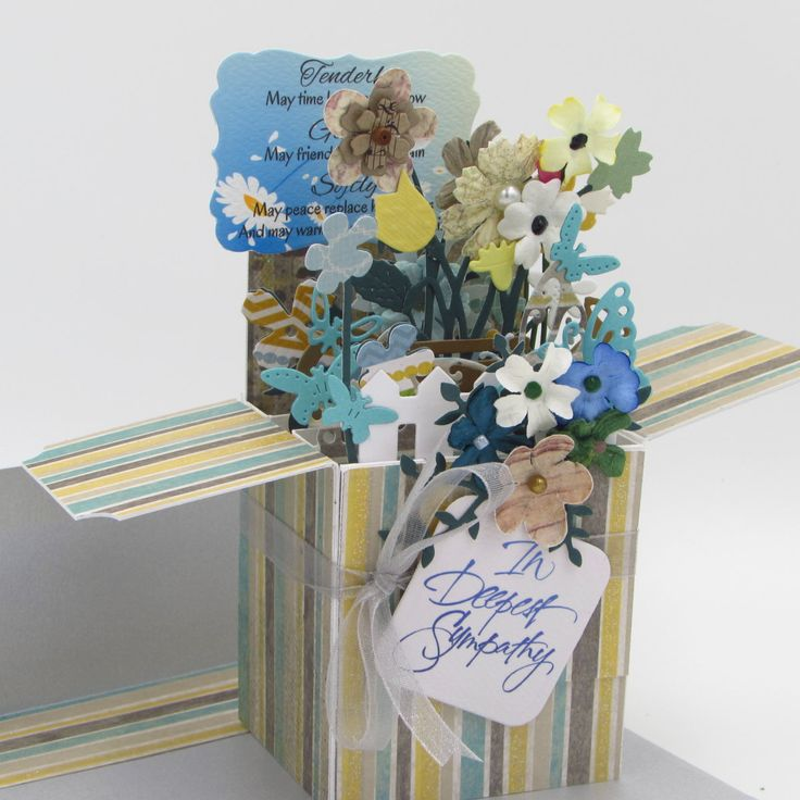 Custom Explosion Box Card - Personalized Handmade - Custom Greeting Card - Card In A Box - Sympathy, New Baby, Birthday - FREE SHIPPING by CARDSBYMOM on Etsy