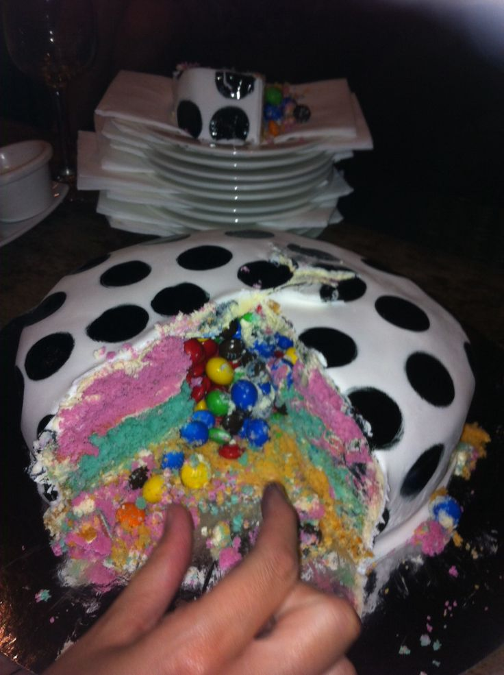 """""""Surprise Cake"""" photo #2 The inside filled with m&m's!!"""