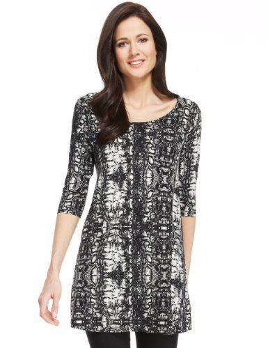 My print!!! M&S Collection Faux Snakeskin Design Tunic - Marks & Spencer