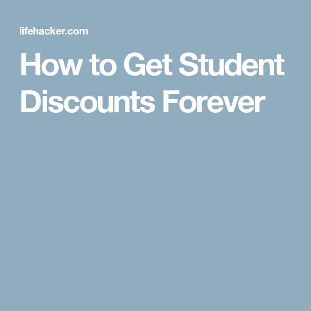 How to Get Student Discounts Forever
