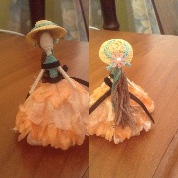 Toothpick doll, inspired by gone with the wind.