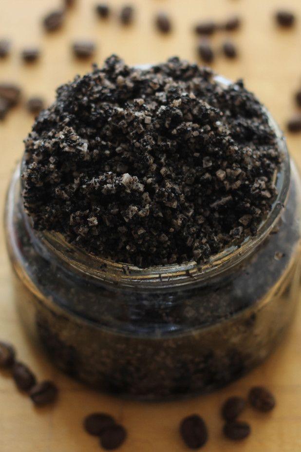 Coffee Salt Scrub, I want to mix epsom salt with the sea salt. Very coarse ground coffee will add to the scrub.