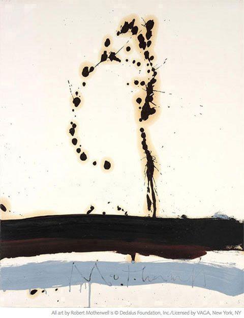 Robert Motherwell, Beside the Sea No. 5, 1962,