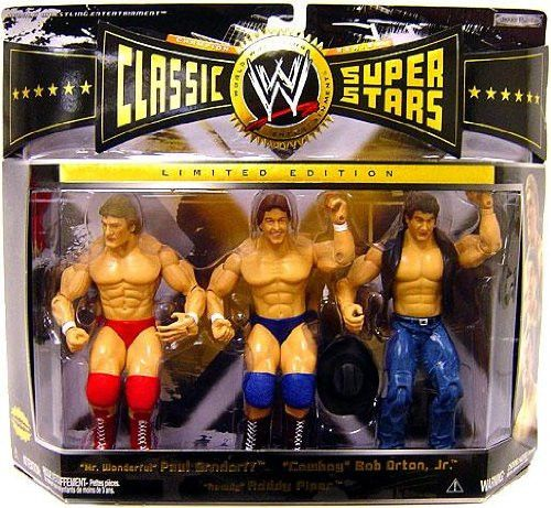 Jakks Pacific, WWE Classic Superstars, Rowdy Roddy Piper, Mr. Wonderful Paul Orndorff, and Cowboy Bob Orton Action Figures