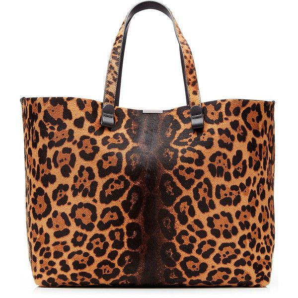 Victoria Beckham Simple Shopper Printed Calf Hair Tote ($1,349) ❤ liked on Polyvore featuring bags, handbags, tote bags, animal print, animal print handbag, tote bag purse, polka dot purse, calf hair tote and print tote bags